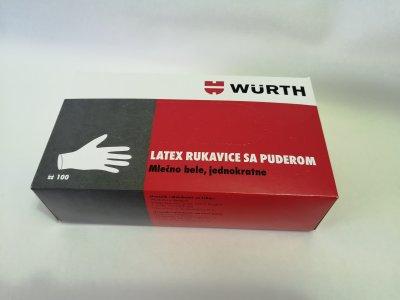 Jednokratne lateks rukavice WURTH P