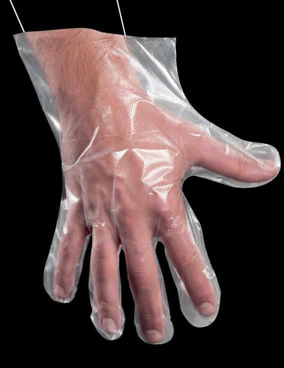 PE rukavice HDPE self